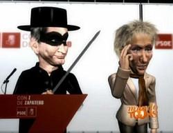 Imatge procedent dels videos `Con Z de Zapatero'