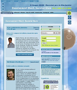 Coneixement Obert, Societat Lliure - 3r Congrés ONLINE OCS / 2006
