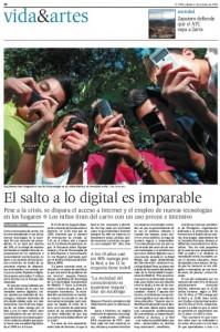 Reportaje El Pais (octubre 2010): El salto a lo digital es imparable