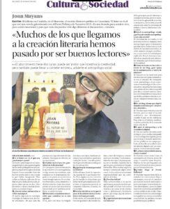 Article - Entrevista de Pere Estelrich a Joan Mayans - Diario de Mallorca - El futur no és el que era